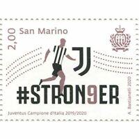 Francobollo Juventus Campione d'Italia 2019-2020 San Marino