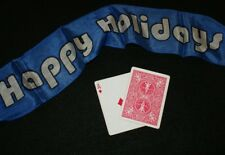 Happy Holidays silk banner -- 20 x 3.5 inch-- beat the rush for next year   TMGS