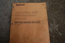 CAT Caterpillar 304.5 Excavator Trackhoe Operation Operator Maintenance Manual