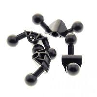 4 x Lego Bionicle Figur Kugel Gelenk schwarz 4 x 4 x 2 90 Grad Winkel Verbinder
