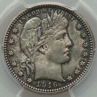 1916-D 25c Final Year of Barber Type Silver Quarter Dollar PCGS MS64