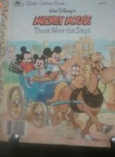 Walt Disney's MICKEY MOUSE THOSE WERE THE DAYS Little Golden Book 1988 VGC
