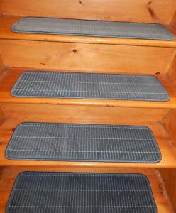 13 Step  9'' x 30'' + 1 Landing 29'' x 30'' carpet Wool Blend Woven Stair Treads