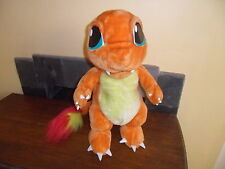 "LARGE POKEMON CHARMANDER FIGURE PLUSH SOFT TOY 1.5FT TALL 18"" BASE SET ORIGINAL"