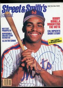 BOBBY BONILLA NEW YORK METS	STREET & SMITH'S MAGAZINE signed autographed
