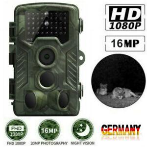 16MP Wildkamera HD 1080P Jagdkamera Wildtier Kamera Infrarot IR Nachtsicht DHL