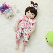 22'' Newborn Dolls Silicone Girl Baby Toddler Doll Toy Lifelike Reborn Toys USA