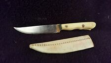 ancien Superbe Petit couteau de poche gravé 1973 manche en os 11,3cm