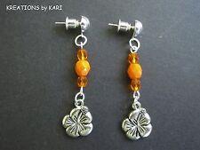 Dangle Earrings - #Ppe335 Post/Stud - Beaded Flower