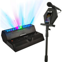 808 Audio Singsation Bluetooth  All-In-One Stereo Karaoke System w/ 2 Wired Mics
