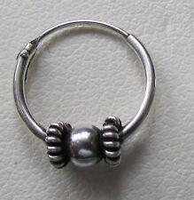 Da Uomo/Ragazzo BALI Stile 925 Sterling Silver Hoop orecchino singolo 11 MM confezione regalo gratuito