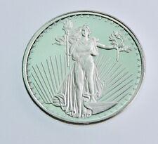 1 Troy Oz SILVERTOWNE St Gaudens 999 Fine Silver Round BU Gem Coin #308