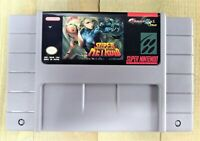 Super Metroid Justin Bailey + Custom Case SNES Super Nintendo (READ INFO)