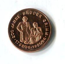 Medaille 200 Jahre Brüder Grimm Jakob Wilhelm Märchensammler Demokraten M_172