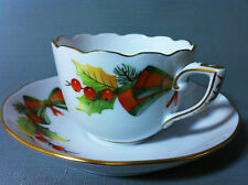 HEREND CHRISTMAS DECOR – NOEL HEREND PORCELAIN COFFE CUP and SAUCER