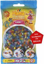 Hama 1000 Midi Bügelperlen 207-53 Mix Transparent Ø 5 mm Perlen Steckperlen Bead