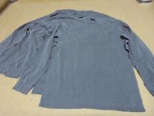 4-Lot Port & Company NEW Charcoal Gray Long Sleeve T-Shirts Size Adult M Medium