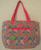 NEW NWT VERA BRADLEY PAISLEY IN PARADISE TRIMMED REVERSIBLE TOTE 15942-379080