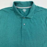 Old Navy Polo Shirt Men's Size 2XL XXL Short Sleeve Teal Black Built-in Flex