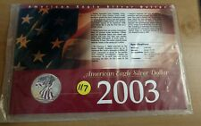 2003 Painted American Eagle Silver Dollar in Collectors Card