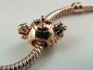 ROSE GOLD PLATED TEA POT SPACER CHARM FOR EUROPEAN STYLE CHARM BRACELETS #SP 193