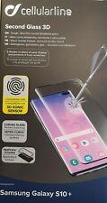 Samsung Galaxy S10+ Schermo Protezione Vetro Curvo Cellularline IMPRONTA ok!