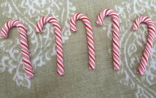 5x Large Candy Cane.Fimo Polymer clay.Card making embellishment Christmas .5 CM