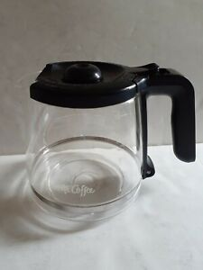 Mr. Coffee Glass Coffee Carafe 12 Cup Black Lid OEM