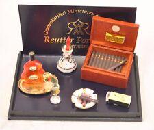 Gentleman's Cigar Humidor Set 1.418/6 miniature dollhouse 1/12 scale Reutter