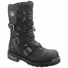 Harley Davidson Axel Black Mens Leather Tall Motorcycle Boots