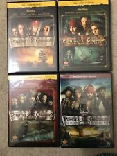 Pirates of The Caribbean 1, 2, 3 Trilogy + #4 On Stranger Tides Blu-Ray 4 Movies