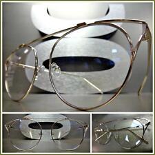 CLASSIC VINTAGE RETRO Style Clear Lens GLASSES Unique Rose Gold Fashion Frame