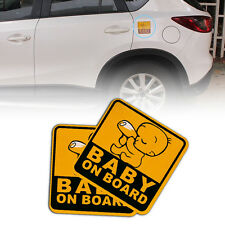 Baby on Board Auto Car Truck Warning Reflective Sticker Graphics Decal Stickers