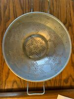 Vintage Aluminum Star Pattern Colander Rustic Country Strainer Decor