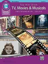 TOP HITS FROM TV,MOVIES & MUSICALS-INSTRUMENTAL SOLOS-ALTO SAX-MUSIC BOOK/CD NEW