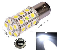 White 1157 BA15D 5050 SMD 27 LED Car Tail Anchor Reverse Light Lamp Bulb DC 12V