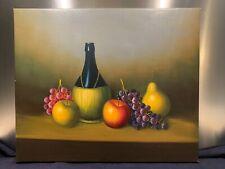 Peinture sur toile grand format, nature morte aux fruits