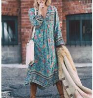 Chic Womens Casual Free People Same paragraph Irregular Hot Sale Floral Dress