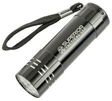 ST 9 LED Mini Aluminum Flashlight with Lanyard, Super Bright