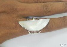 ring cocktail ring handmade sterling silver ring shell gemstone