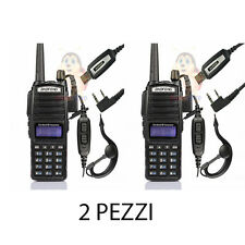 2X BAOFENG UV-82 DUAL BAND RICETRASMITTENTE WALKIE TALKIE CUFFIE COMUNICAZIONE
