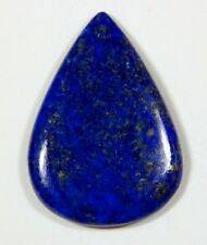 UNUSUAL 14x10mm PEAR CABOCHON-CUT ROYAL-BLUE NATURAL LAPIS LAZULI GEMSTONE