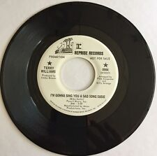 TERRY WILLIAMS, I'M GONNA SING YOU A SAD SONG SUSIE, REPRISE#904, 45 PROMO REC.
