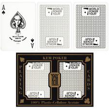 Kem WPT ARROW doppio ponte POKER US carte da gioco 100/% plastica Regular Index