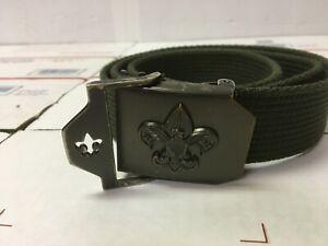 "Official BSA Boy Scouts America Web Belt M/L Green Uniform  42""  #64042"