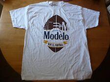 Modelo Especial Cerveza Vive El Football White 100% Cotton Mens XL T-Shirt, NWOT