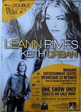 LEANNE RIMES KEITH URBAN POSTER AUSTRALIA TOUR 2003 BRISBANE A2 New Country
