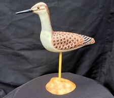 Wood Carved Yellowleg, hand carved & painted,signed,Sandpiper, Shorebird carving
