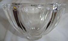 "Beautiful Kosta Boda Heavy Crystal Bowl in the Roman Pattern 4"" Tall, 6"" Wide"