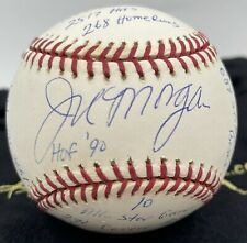 Joe Morgan Signed Autographed STAT Baseball HOF 90 Statball Ball
